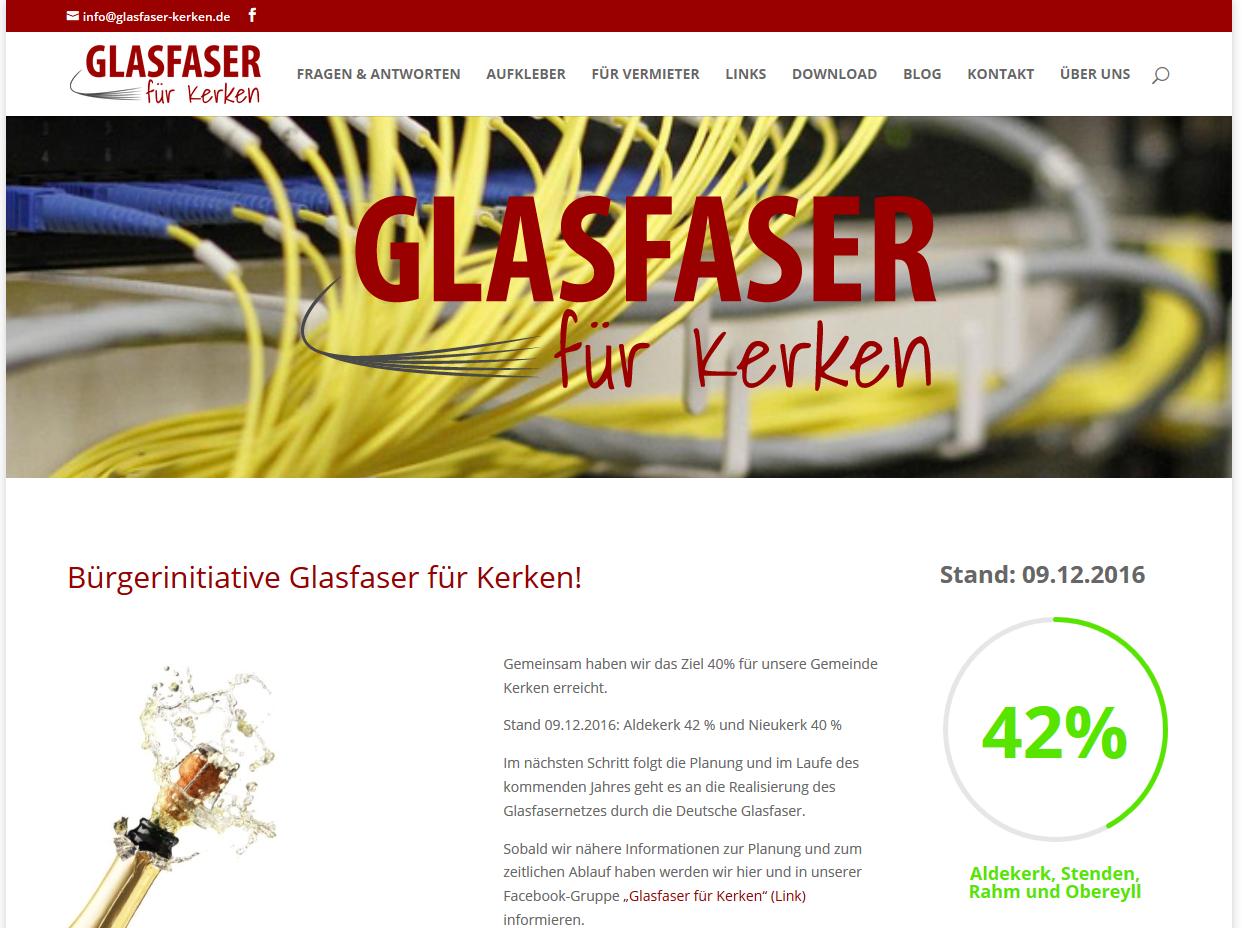Homepage Glasfaser für Kerken